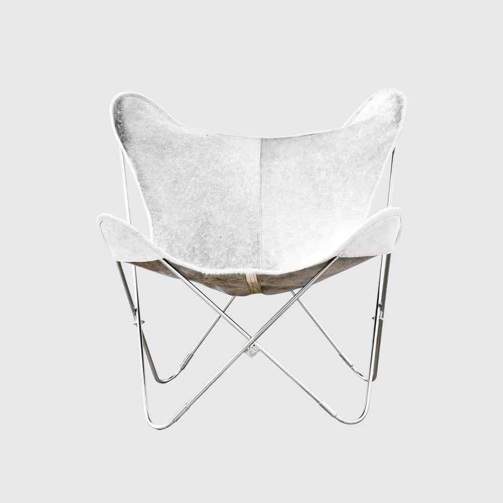 Butterfly Folding Chair Palermo Chair Chrome Grey Cowhide