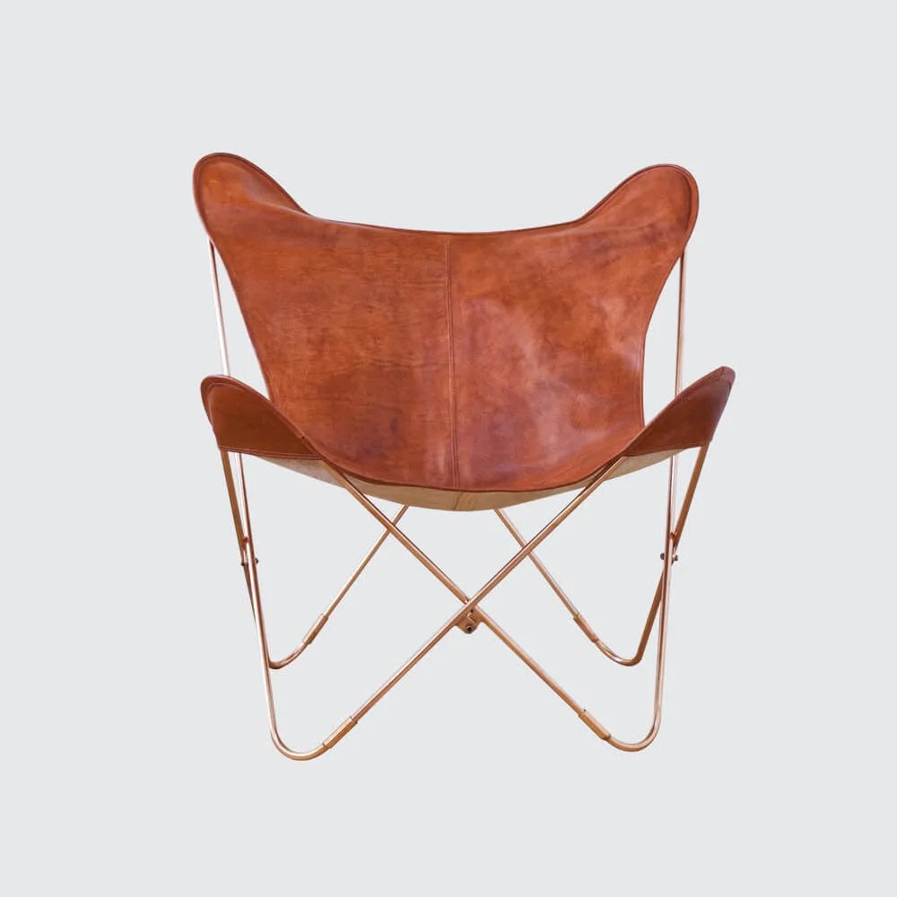 Butterfly Folding Chair Palermo Chair Copper Cognac