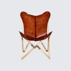 Leather Sling Chairs Metal Wood Chair Handcrafted Butterfly The Citizenry Palermo Tripolina