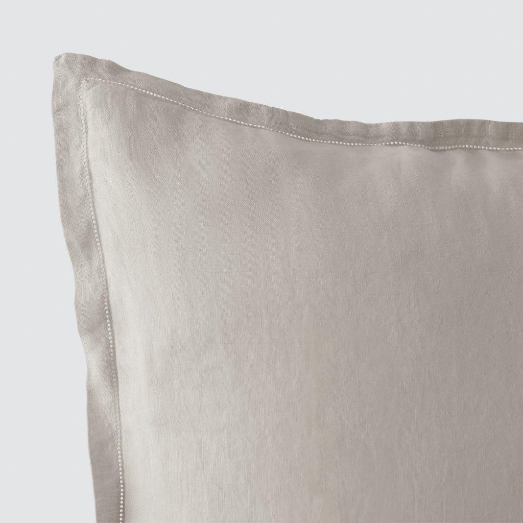 stonewashed linen euro shams the