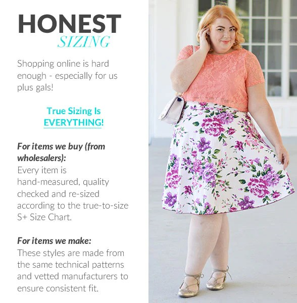 We carry extended sizes all the way up to  plus size if you are looking for fashion society is your gateway community and confidence also pioneers michelle crawford jessica kane rh