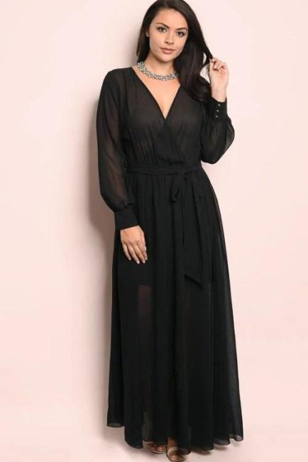 Chevonne Maxi Wrap Dress - Black