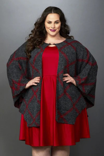 Plus Size Clothing for Women - Solid Skater Dress - Red - Society+ - Society Plus - Buy Online Now! - 2