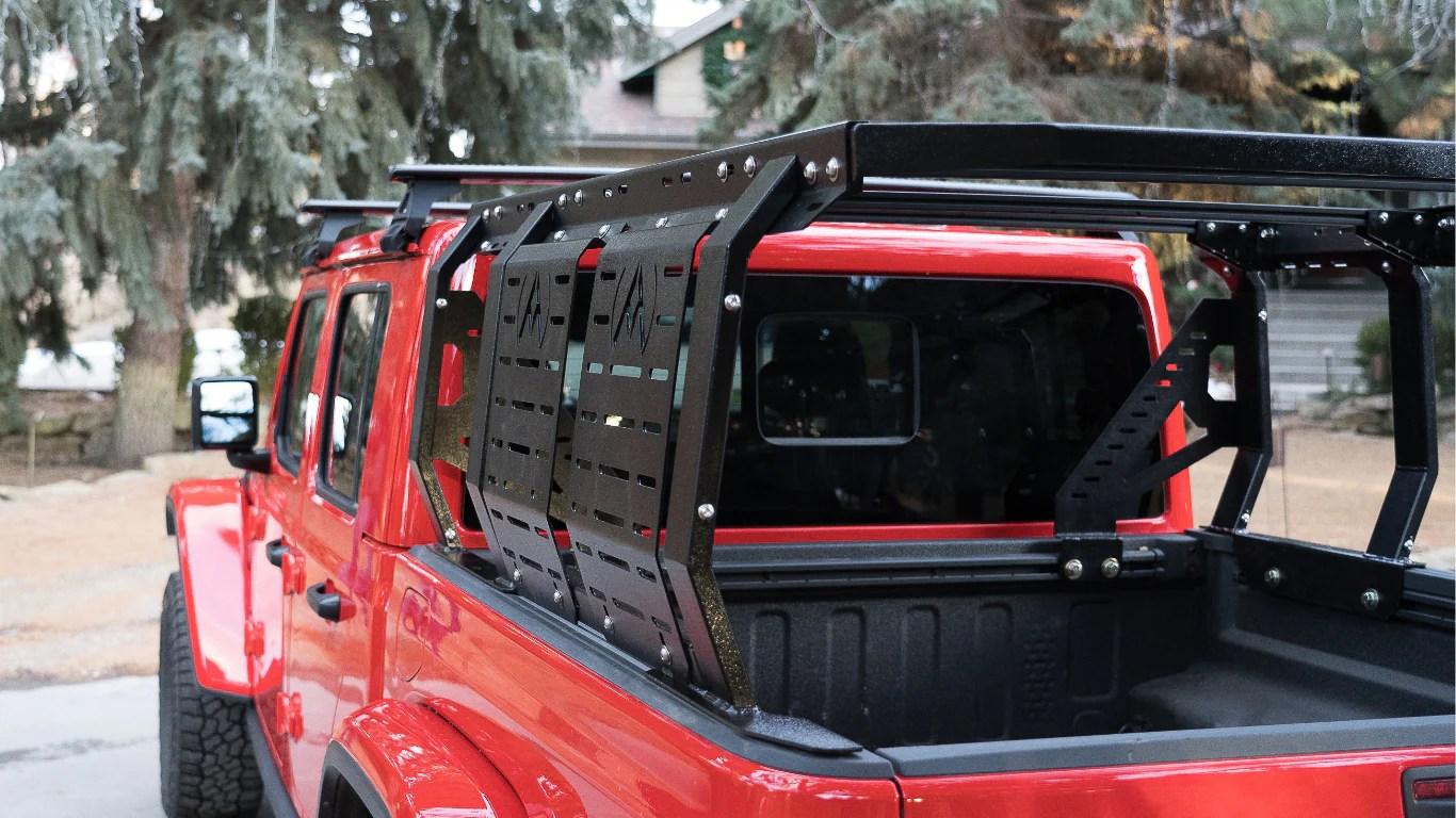 atls truck bed rack for jeep gladiator