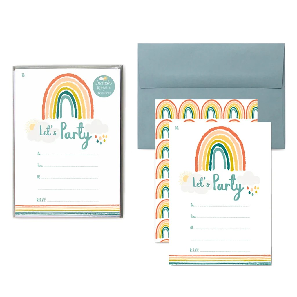 This rainbow bubblegum themed birthday party by jo anne of oh goodie designs is absolutely popping with bright & Little Rainbow Birthday Party Invitations Lucy Darling