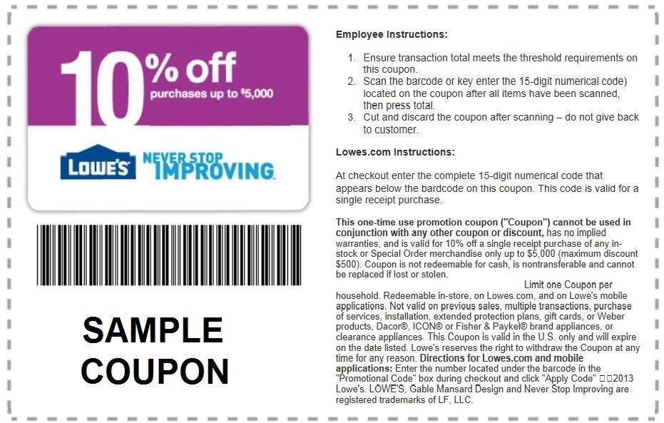 TWO 2 Lowes 10 Off Coupon Expires 62614  Shopping4Bargain