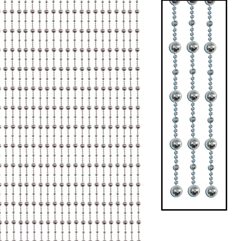 disco ball bead curtain includes 2 12