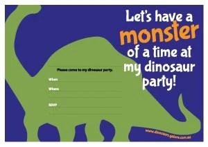 free dinosaur birthday party invitation