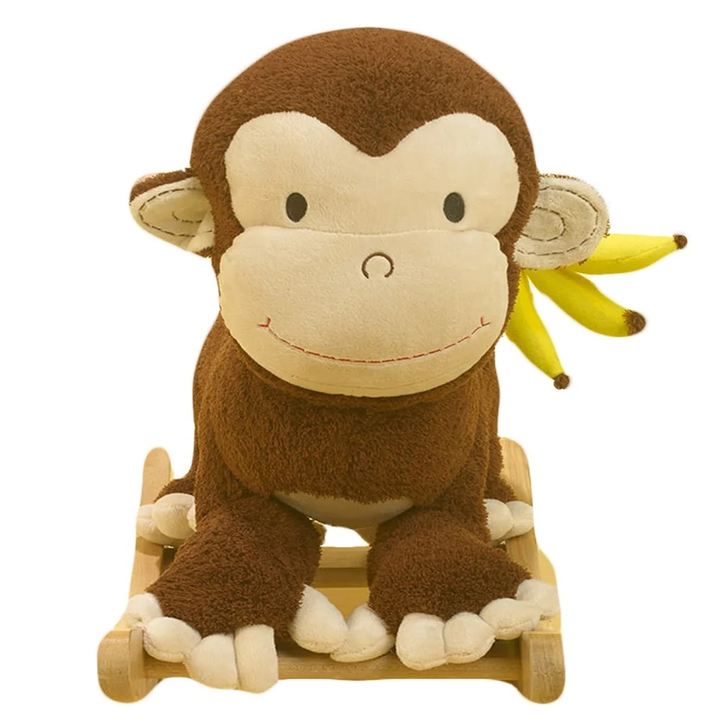 plush toddler chairs staples office chair with neck support monkey rocker
