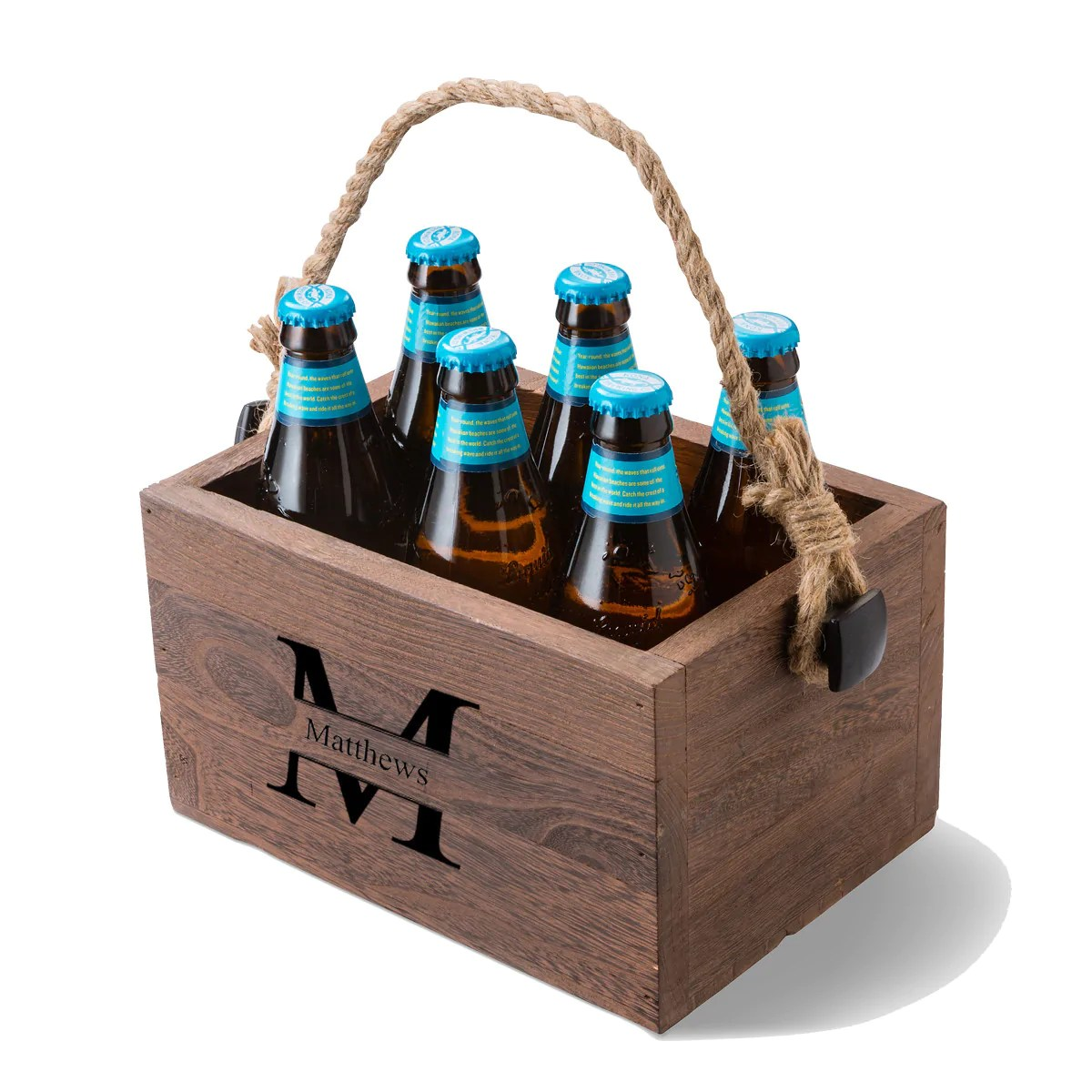 Beer Caddy Monogram Design