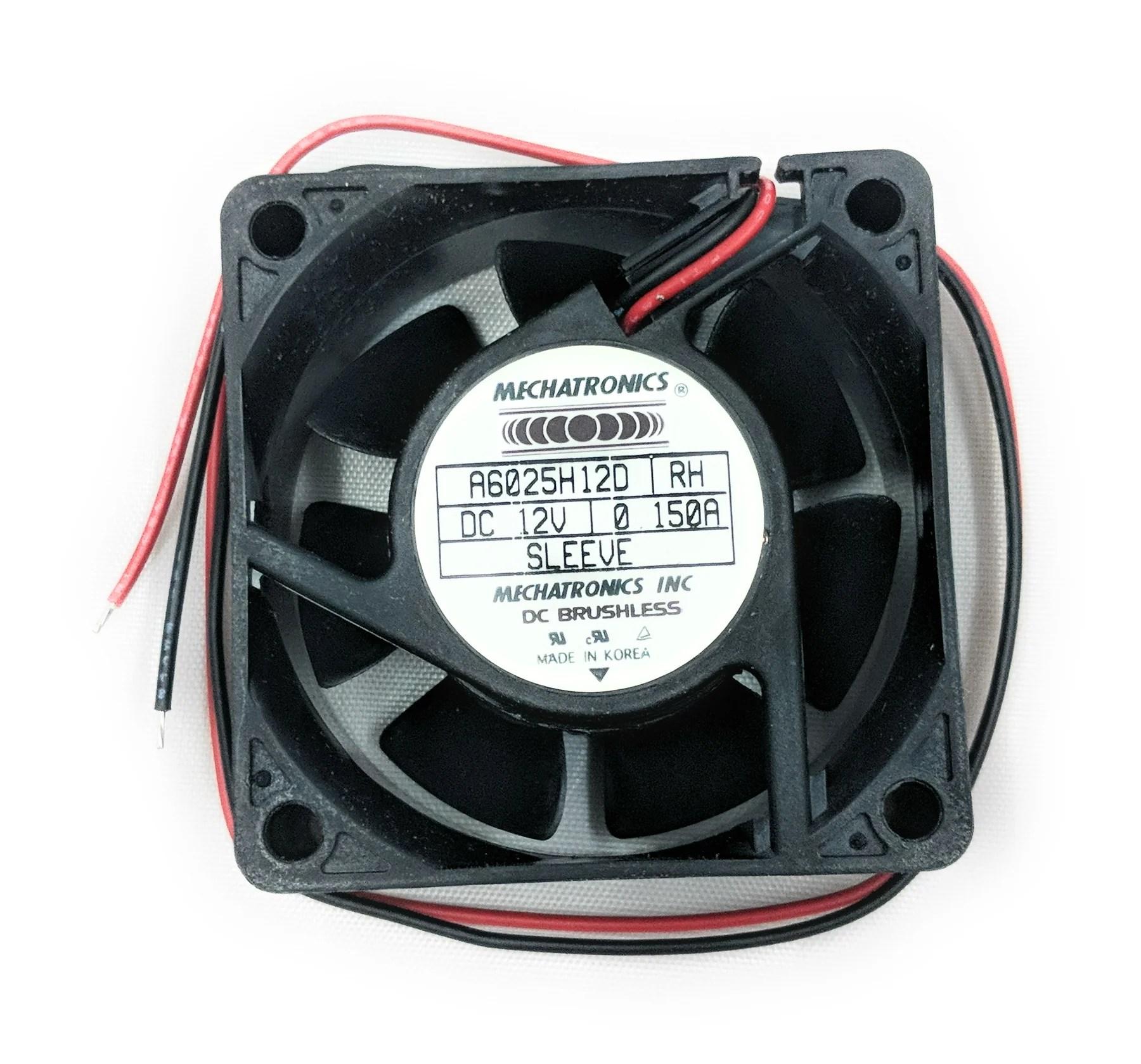 medium resolution of mechatronics 60x25mm fan 12v bare leads 13 wires a6025h12d rh