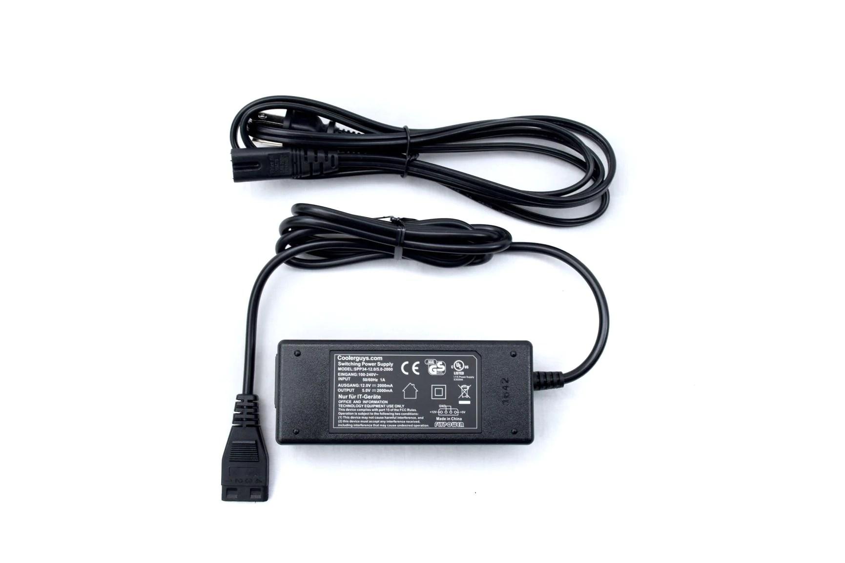 medium resolution of coolerguys 100 240v ac to 12v 5v dc power supply with 4pin molex 2a 2000ma