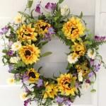 Summer Sunflower Wreath 22 Flora Decor