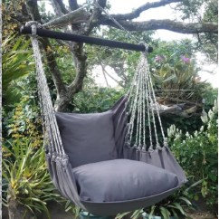 Hanging Hammock Chair Dining Covers Nz Gray Storm Flora Decor