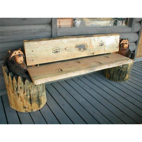 Rustic Log Furniture And Chainsaw Carvings Great