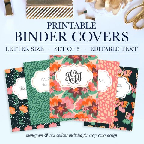 Printable Binder Covers  Jessica Marie Design