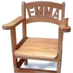 Wooden Chairs Images Peacock Wicker Chair Personalised Toddler With Armrests 1 7 Letters Honeybunch