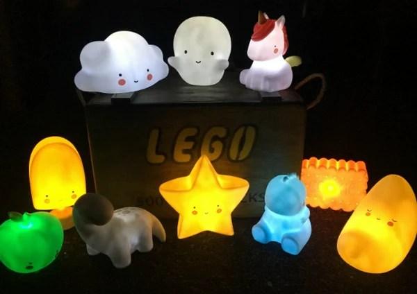 Night Light LED Unicorn Trex Cloud Apple Pear