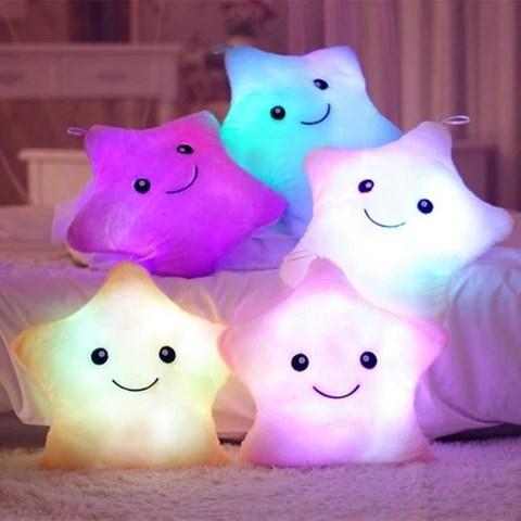 creative twinkle glowing stars pillow