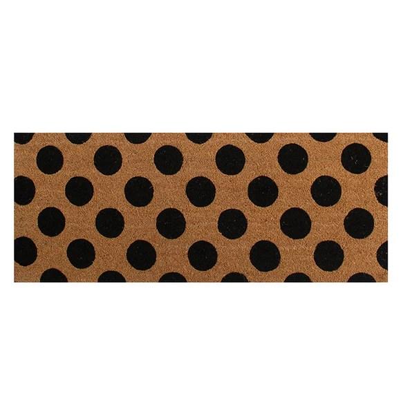 coir long double door mat polka spot lpdoormats