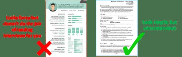 layout example good cv