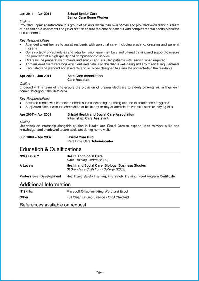 education and training cv