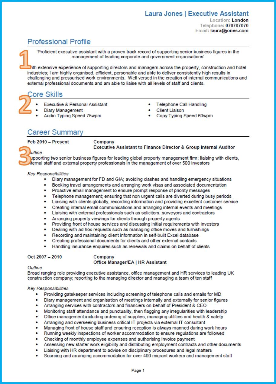 Example Of A Good CV