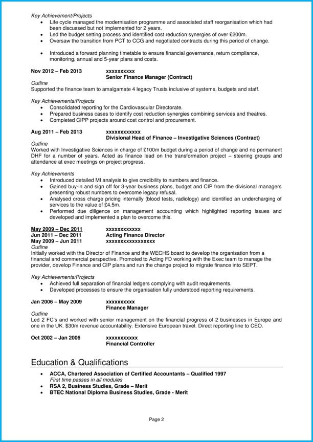 Executive CV template and 5 executive CV examples Land top jobs