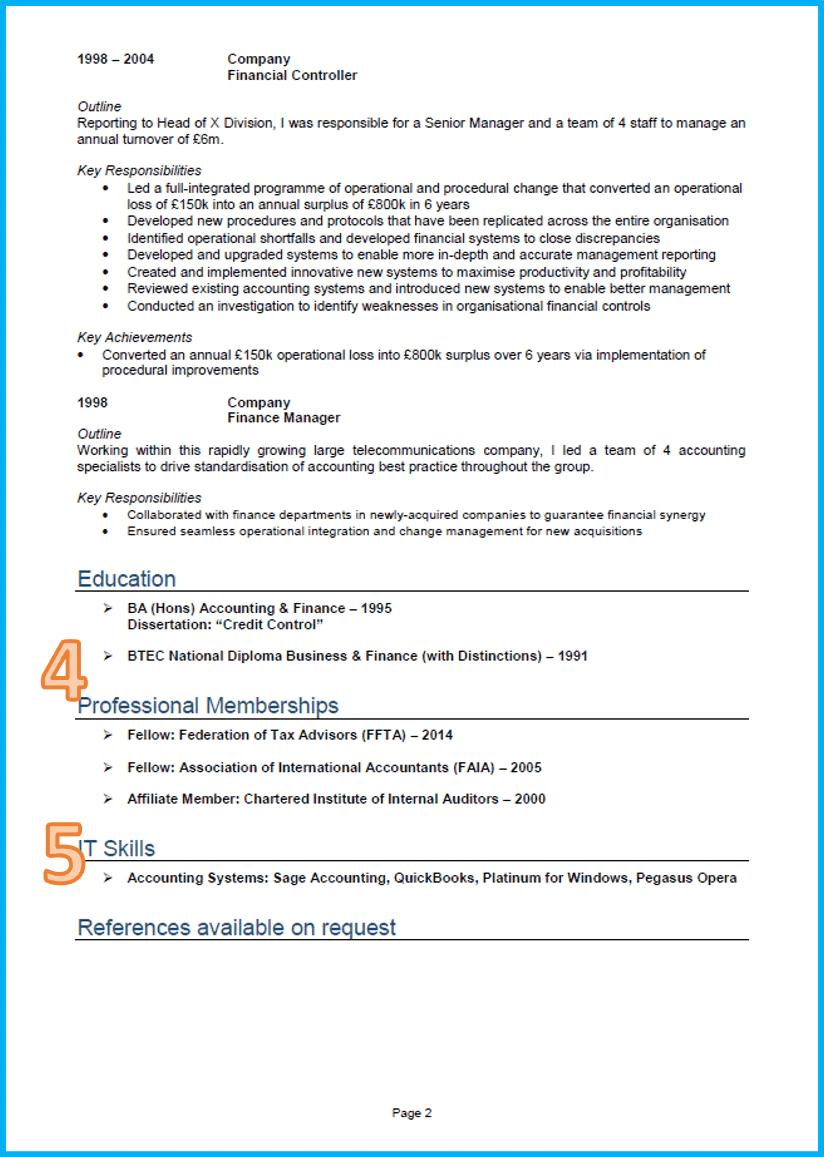 Finance Cv Sample 2