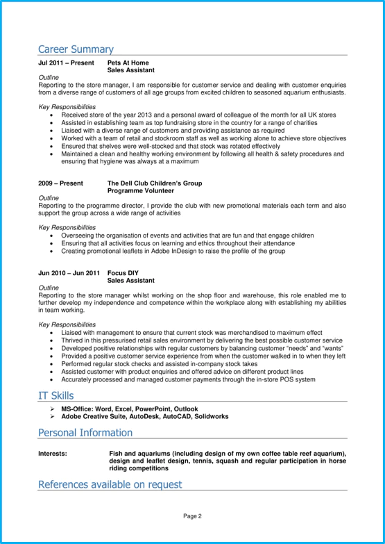 Student CV template and examples  School leaver  Graduate