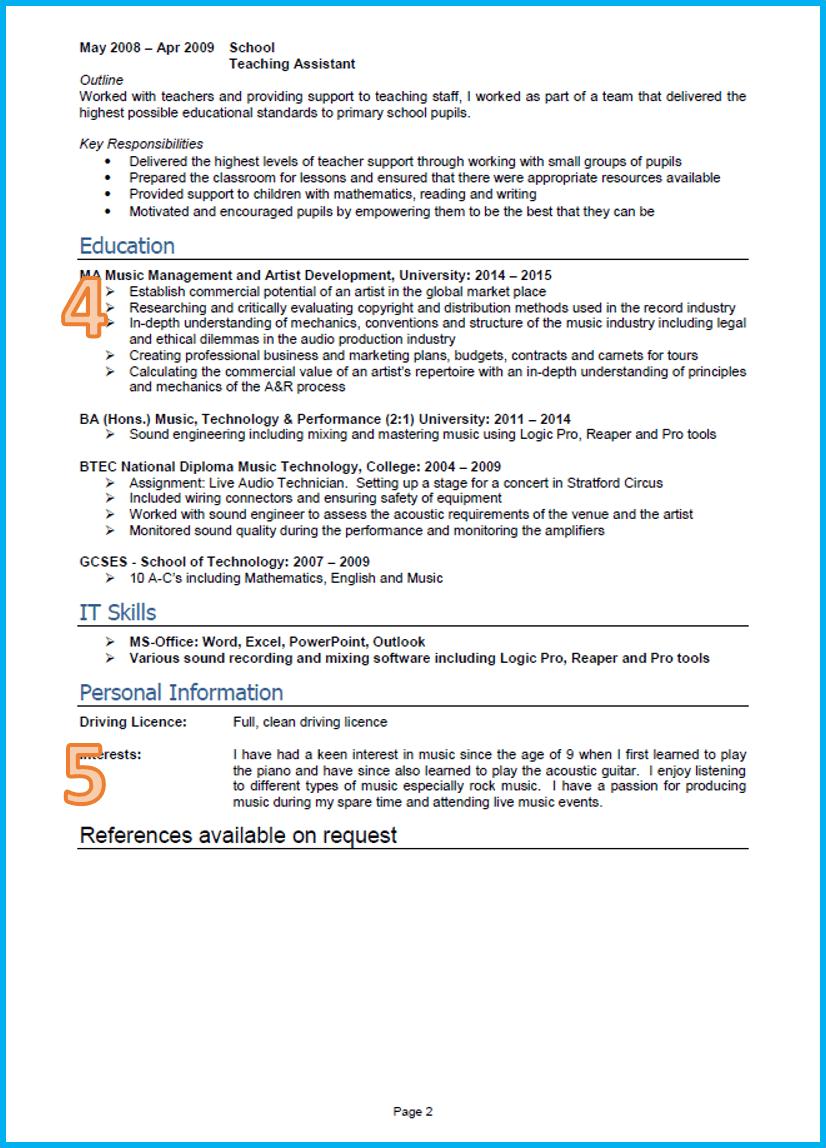 Gallery of Graduate Cv 2 ~ How To Prepare Resume Format