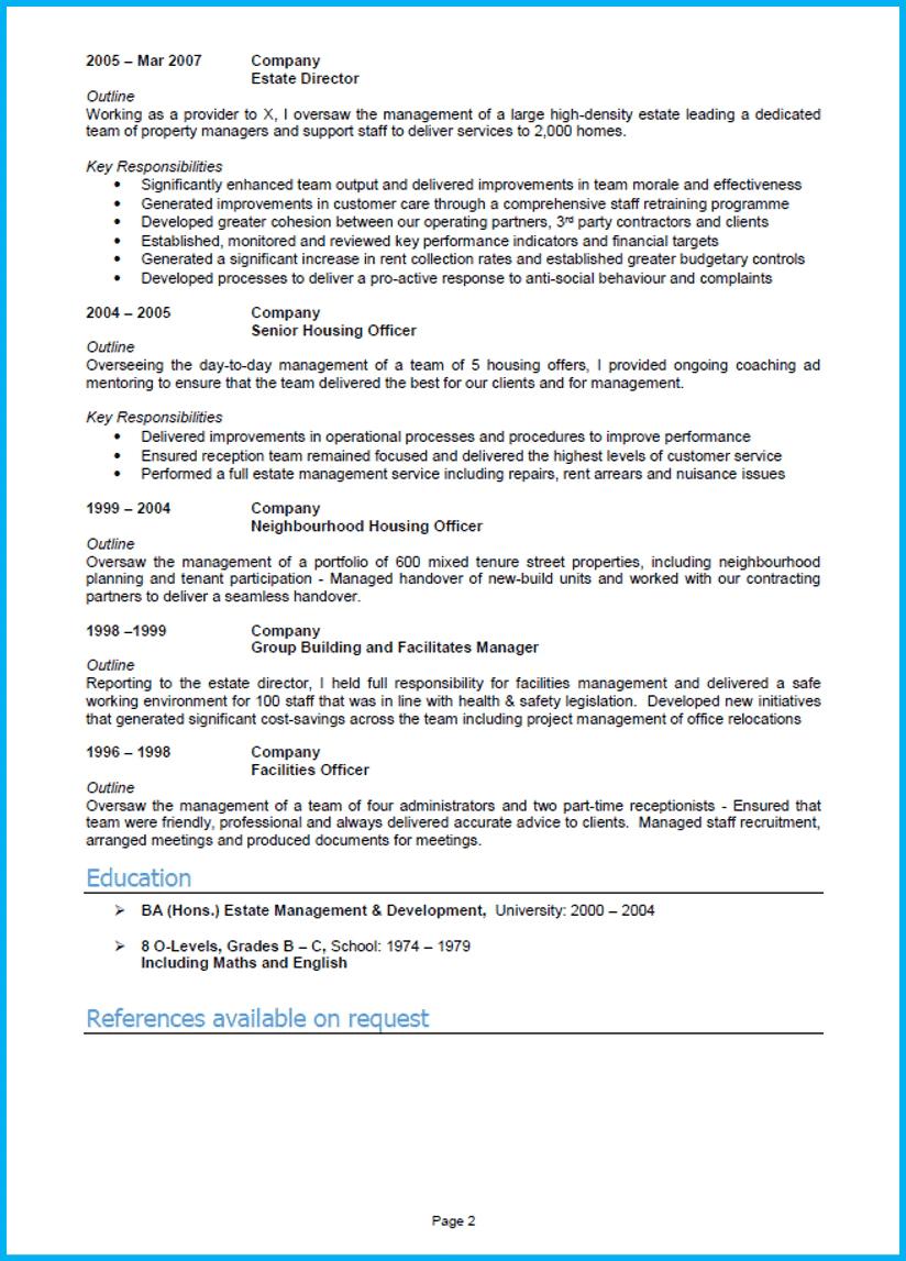 Management Cv Sample 2