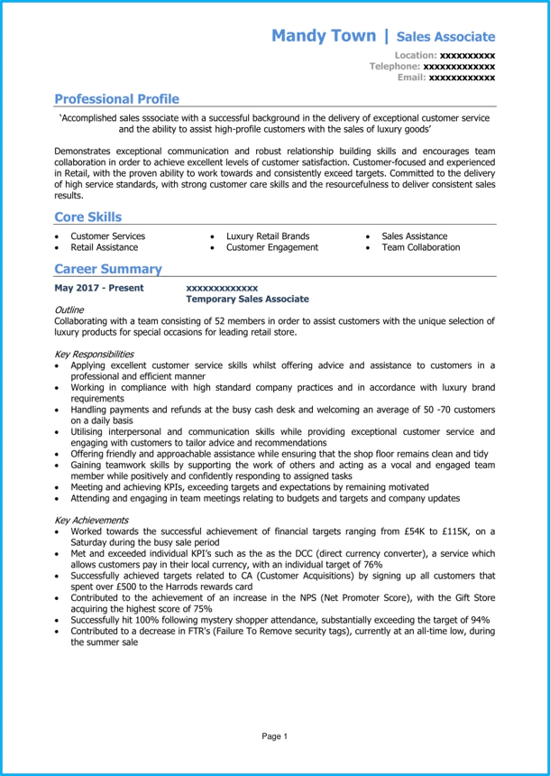 example cv for sales negotiator