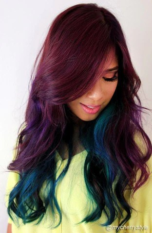 multi-colored hair overtone haircare