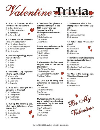 Valentine Games Pack Printable Games