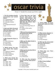 20 Oscar Party Games Printable Games