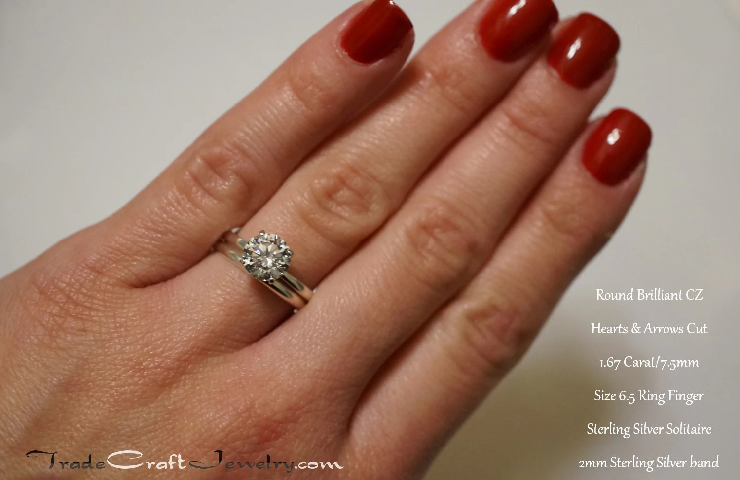 This picture shows mm round brilliant ct mm cushion ct ct ct us dime size ring finger also stone comparisons with hand shots  tradecraft jewelry rh shopadecraftjewelry