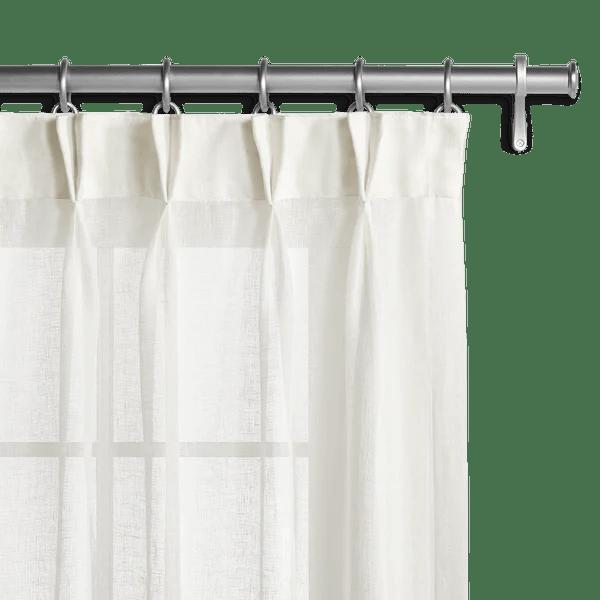 Belgian Sheer Linen Offwhite Drapery  Custom Curtains