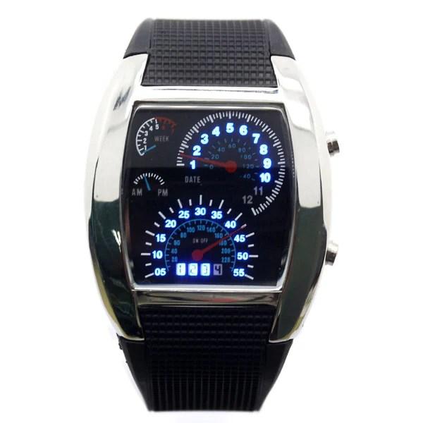LED Digital Watch Mens Race Car Military Style  Boardwalkbuy