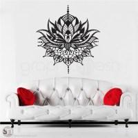 TRIBAL LOTUS FLOWER Tattoo - wall decal | GraphicsMesh