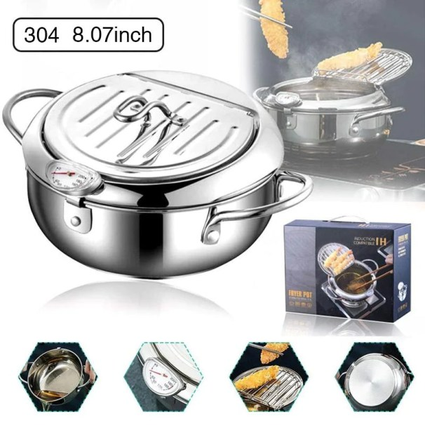 Stainless steel deep frying pot (FREE SHIPPING)