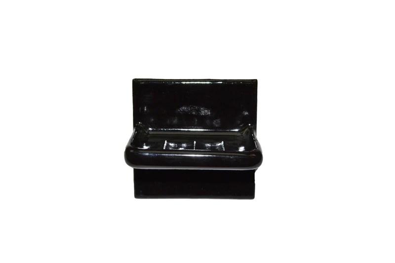 sink soap dish black 4 1 4 x 4 1 4 thinset mount westchester tile marble