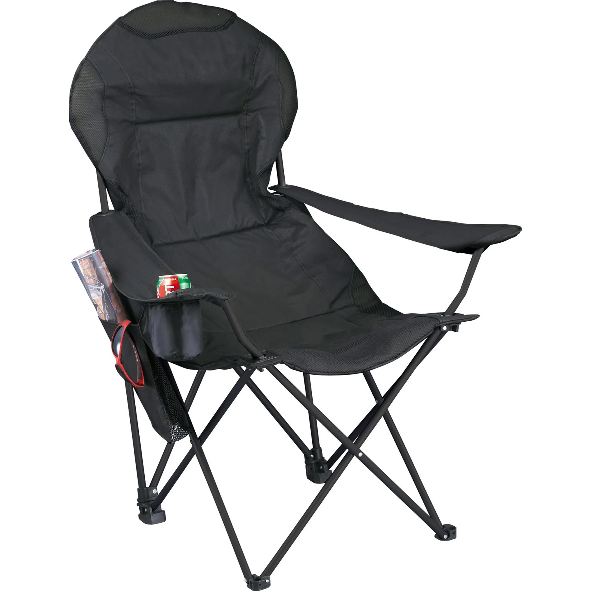Folding Lounge Chair Deluxe Folding Lounge Chair 1070 Black