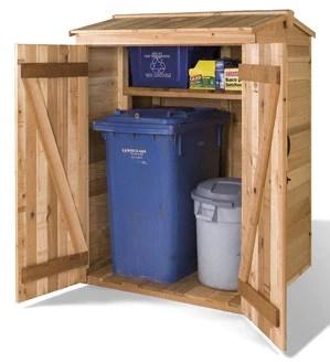 Recycling Bin Sheds Pod Shed Kits DIY Garbage Can