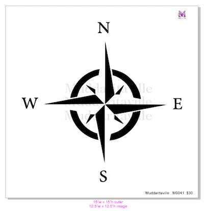 M0041 NWSE Compass Rose Muddaritaville Studio