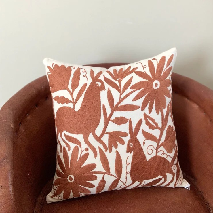 otomi brown pillow covers