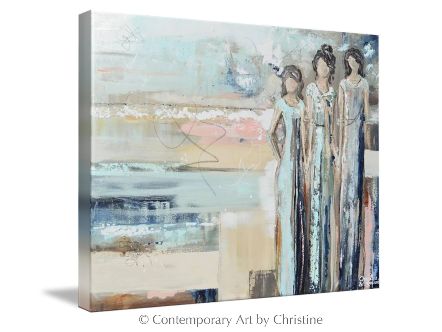 Canvas Art Abstract Painting Figurative Girls Strong Women