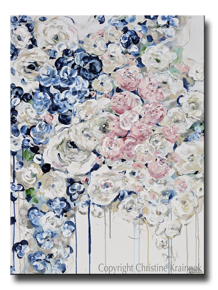 abstract floral fine art