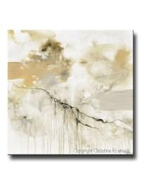 ORIGINAL Art White Grey Abstract Painting Modern Wall Art ...
