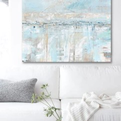 Canvas Prints For Living Room Small Open Plan Decorating Ideas Original Art Abstract Painting Blue Grey Textured Coastal ...